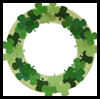 Paper Plate Shamrock Wreath Craft for St. Patrick's Day
