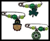 Irish Charm Pins Craft