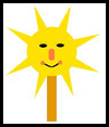 Here Comes The Sun Mask Craft Activity for Children