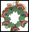 Saint Patrick's Day Wreath Craft for Children