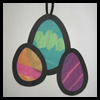 Tissue Paper Easter Eggs Craft