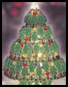 "7"" Safety Pin Beaded Christmas Tree Craft"