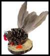 Pinecone Turkey Figure Nature Craft for Kids