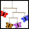 Butterfly Mobile Sticks Craft for Kids