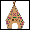 Tepee Stick Teepee Craft for Kids