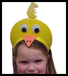 Chick Visor Easter or Spring Arts and Crafts Ideas for Children