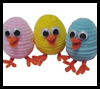 Fuzzy Chicks Easter Craft