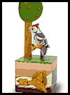 Woodpecker and Tree Moveable Paper Craft Toy