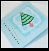 Green Tinsel Heat Embossed Christmas Tree Card