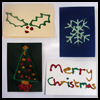 Glitter Glue Card : How to Make Christmas Cards Instructions