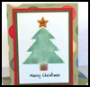 Christmas Tree Card : Make Christmas Cards Craft for Kids