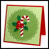 Candy Cane Scallop Card : Make Christmas Cards Craft for Kids