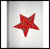 Fabric Shape Card : Making Christmas Cards Craft for Children