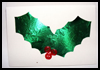 Holly Leaf Card : How to Make Christmas Cards Instructions