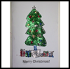 Glitter Christmas Tree Card : How to Make Christmas Cards Instructions