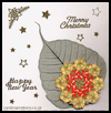 Leaf and Teabag Christmas Card : How to Make Christmas Cards Ideas Directions