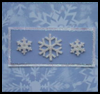 Blue Snowflakes Card : Make Christmas Cards Craft for Kids