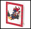 Family Sledding Card : Making Christmas Cards Craft for Children