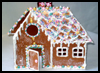 Christmas Gingerbread House Card : Make Christmas Cards Craft for Kids