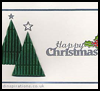 Corrugated Christmas Tree Card : Making Christmas Cards Craft for Children