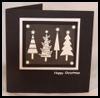 Frosted Christmas Trees : Making Christmas Cards Craft for Children
