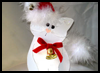 Christmas Cat Card : Make Christmas Cards Craft for Kids