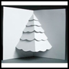Christmas Tree Pop-Up Card : Make Christmas Cards Craft for Kids