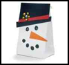 Snowman Gift Bag : Christmas Present Bags Craft Instructions