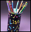 Juice   Container Pencil Holder  : Crafts with Juice Boxes for Children