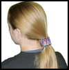 Safety   Pin Pony Tail Holder  : How to Make Pony Tail Holders