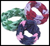 Fingerweave   Hair Scrunchies   : How to Make Hair Scrunchies