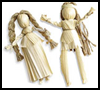 Corn Husk Dolls : Craft Idea for Kids.
