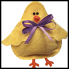 No-Sew Felt Bean Bag Chick : Arts & Crafts Activity for Kids