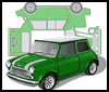 Classic Mini Cooper : Printable Paper Model Toy Car