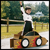 Cardboard Hot Rod - Make Your Own Wearable Toy Car Craft Activity for Kids