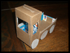 Cereal Box Pickup Truck Craft Activity Instructions