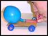 Balloon-propelled Funny Toy Car - Moveable Toy Car Craft Idea for Kids
