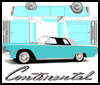 Classic Lincoln Continental : Printable Paper Model Toy Car