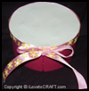 Altered Oval Cardboard Ribbons Box Crafts Activity for Kids