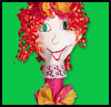 Curly-Haired Puppet with Recycled Ribbons Craft for Children