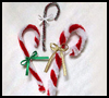 Chenille Candy Canes and Ribbons Crafts Activity for Christmas