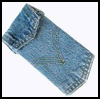 Denim   Mp3 Player Holder  .   : How to Make  iPod / MP3 Holders