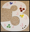 3-Dimensional   Numbers Collage  : Numbers Crafts Ideas for Kids