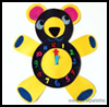 Teddy Tells The Time   : Numbers Crafts Activities for Children