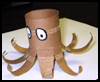 Make   a Toilet Paper Roll Octopus   : Octopus Crafts Ideas for Children