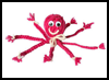 Yarn   Octopus  : Octopus Crafts for Kids
