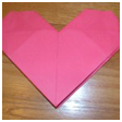 Easy Origami Heart Paper Folding Origami Craft for Kids