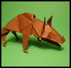 How to Fold Origami Hyenas Instructions