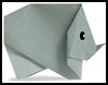 Making Origami Rhinoceros Animals