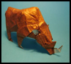 Folding Origami Woolly   Rhino